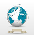 Planes flying around the globe vector image vector image