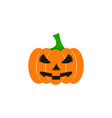 pumpkin of icon halloween color the evil vector image vector image