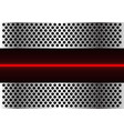 red light line technology in metal circle mesh vector image vector image