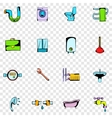 Sanitary engineering set icons vector image vector image