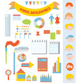 School infographic set with icons faces frames vector image vector image