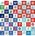 set of logo Christmas vector image