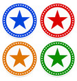 simple star badges vector image vector image
