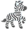 small zebra foal vector image vector image