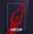 soccer goalkeeper poster vector image