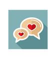 speech bubbles heart icon happy valentines day vector image vector image