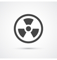 Trendy flat radiation warning icon vector image