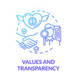 values and transparency blue gradient concept icon vector image vector image