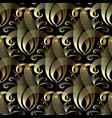 vintage gold damask 3d seamless pattern vector image vector image
