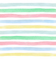 watercolor striped seamless pattern vector image vector image