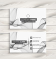 white abstract business card template vector image vector image