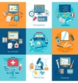 Workspace Concept Set vector image vector image