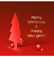 Christmas background with stylized tree vector image