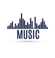 abstract equalizer icon music sound wave for vector image