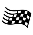 finish flag icon simple black style vector image