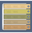 Retro design template for infographics vector image