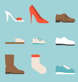 type of shoes collection icon vector image