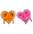 Jealous cartoon heart vector image