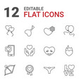 12 valentine icons vector image vector image