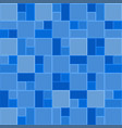 3d blue mosaic tile wall pattern background vector image vector image