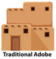 a traditional adobe house