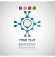 abstract blue man on a white background vector image vector image