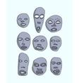 african masks set vector image vector image