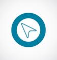 arrow cursor icon bold blue circle border vector image