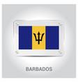 barbados flag design vector image