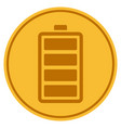 battery gold coin vector image vector image