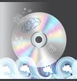 beautiful disc dvd vector image