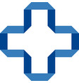 blue cross on a white background vector image