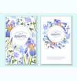 blue flower round banners vector image vector image