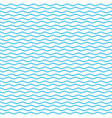 blue water wavy waves pattern on white background vector image vector image