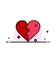 broken love heart wedding business flat line vector image vector image