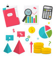 business management and finance set vector image