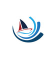 business sail logo vector image