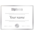 certificate diploma of completion template vector image