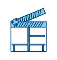 cinema clapboard symbol vector image vector image