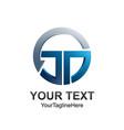 circle letter jd initial alphabet logo design vector image