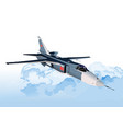 combat aircraft armed 3 vector image vector image