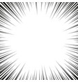 comic book black and white radial lines background vector image