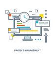 concept of project management vector image vector image