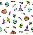cute halloween seamless pattern vector image