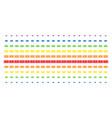 dollar banknote shape halftone spectrum array vector image