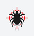 dust mite black silhouette on red target vector image vector image