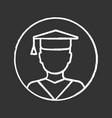 education chalk icon vector image vector image