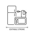 electronics store pixel perfect linear icon vector image vector image