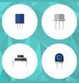 flat icon appliance set of resist transducer vector image vector image