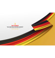 germany happy unity day vector image vector image